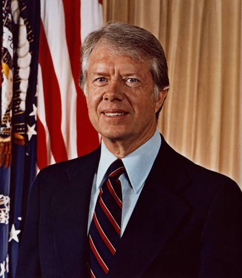 President Jimmy Carter is shown in this photo from his time in office. PHOTO PROVIDED BY THE JIMMY CARTER LIBRARY & MUSEUM <strong></strong>