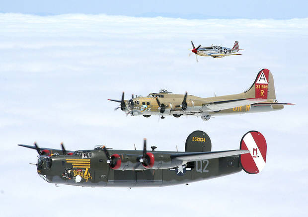 The Wings of Freedom Tour of  World War II aircraft will be on display at Wiley Post Airport from April 6 to 8.  Photo Provided <strong>Photo Provided</strong>