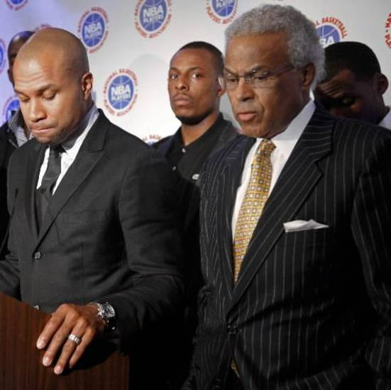 Billy Hunter (right) reportedly is seeking to get Derek Fisher to resign as president of the NBPA.