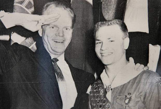 Above: This is a copy  of an early 1960s photo of Paul Harvey  with Hal Yocum.