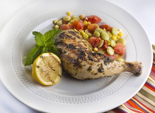 Switch from chicken breasts to bone-in thighs and legs for grilling and richer eating. <strong>BILL HOGAN - CHICAGO TRIBUNE/MCT</strong>