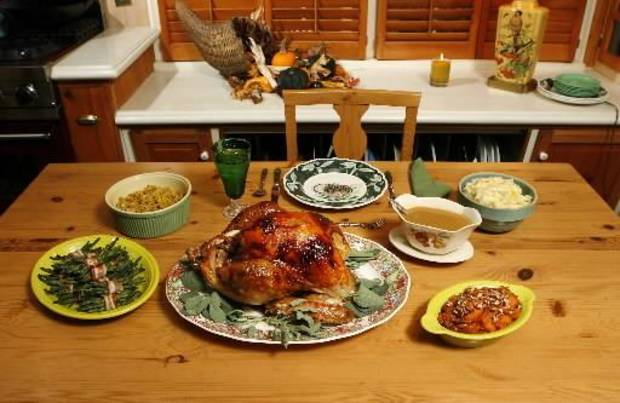 Components of a traditional Thanksgiving meal. Photo by  Jim  Beckel