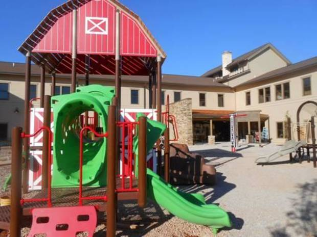 OK Kids Korral outdoor play area