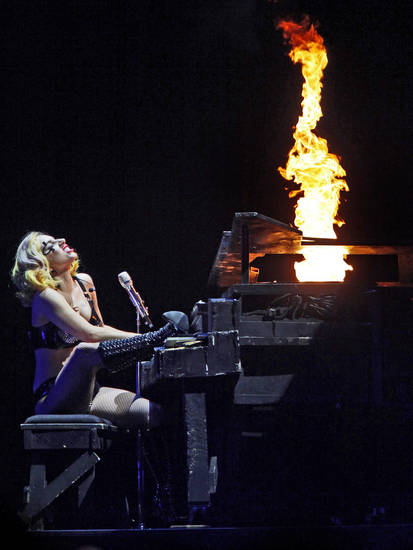 Lady Gaga performs at the Ford Center in Oklahoma City on Tuesday, July 20, 2010.  Photo by Bryan Terry, The Oklahoman
