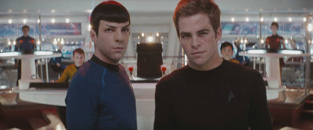 "Zachary Quinto and Chris Pine in Paramount Pictures' ""Star Trek."""