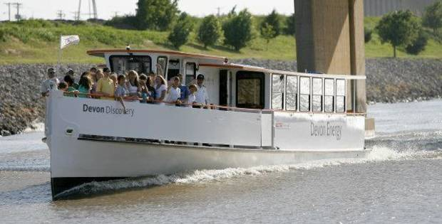 The Oklahoma River Cruisers, shown in this 2008 photo, carried thousands of passengers during the first year operation but have seen diminished ridership ever since.