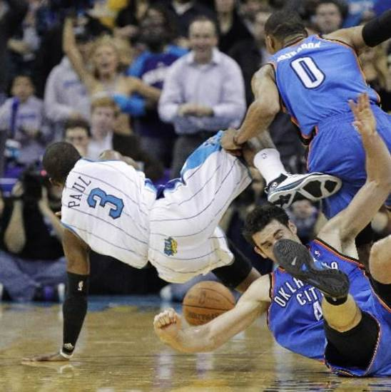 Could the Thunder and Hornets be on a collision course toward a first-round playoff series?
