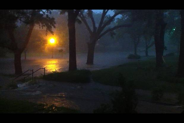 Flooding in the Mesta Park area in Oklahoma City. Photo by David Morris - NewsOK.tv.