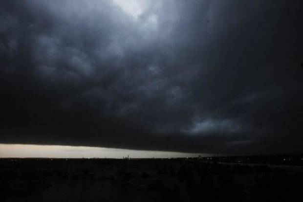 A cold front moves through at sunrise in Oklahoma City Thursday, Oct. 25, 2012. Photo by Paul B. Southerland, The Oklahoman