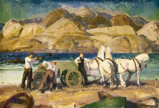"George Wesley Bellow's 1917 painting ""The Sand Cart"" is part of the ""American Moderns"" exhibit now on view at the Oklahoma City Museum of Art."
