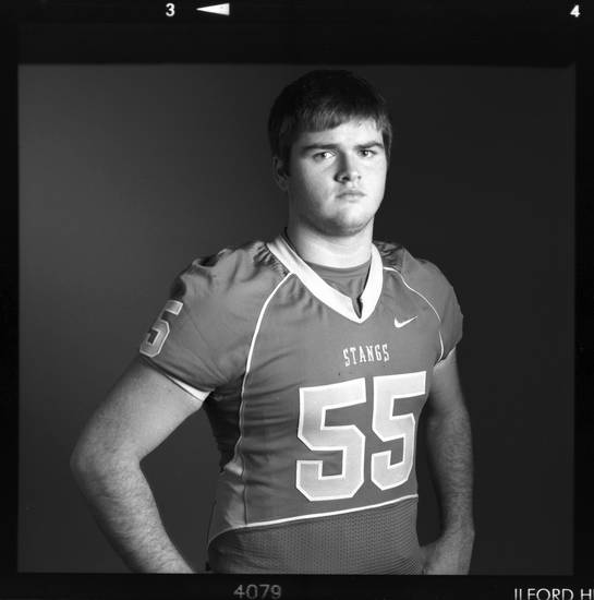 All-State high school football player Sam Noble of Oologah poses for a photo in Oklahoma City, Monday, Dec. 17, 2012. Photo by Nate Billings, The Oklahoman