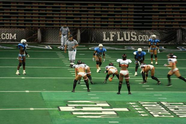 Photo of Orlando&#039;s lingerie football team. Used with permission of 