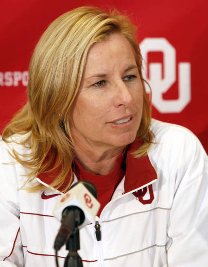 OU softball coach Patty Gasso said he modeled her program after Arizona. PHOTO BY NATE BILLINGS, THE OKLAHOMAN