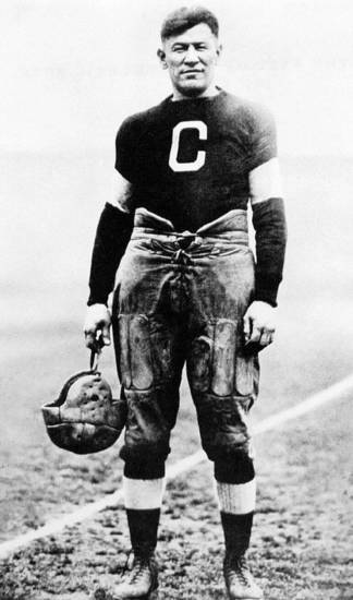 Jim Thorpe is shown in his Carlisle football uniform.   THE OKLAHOMAN ARCHIVE <strong>PROVIDED</strong>