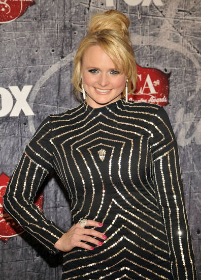 Singer Miranda Lambert arrives at the American Country Awards on Monday, Dec. 10, 2012, in Las Vegas. (Photo by Jeff Bottari/Invision/AP) ORG XMIT: CAENT230