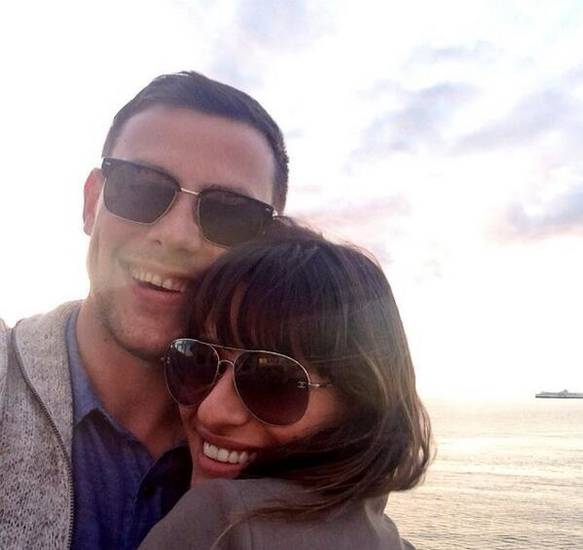 Lea Michele posted this photo of herself with Cory Monteith with her brief Tweet of thanks to her fans for their support.