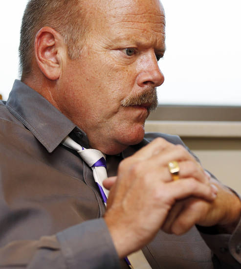 "Actor Rex Linn gives an interview before ""An Evening with Rex Linn"" at the Oklahoma History Center, Tuesday, Sept. 25, 2012. Photo by Nate Billings, The Oklahoman"