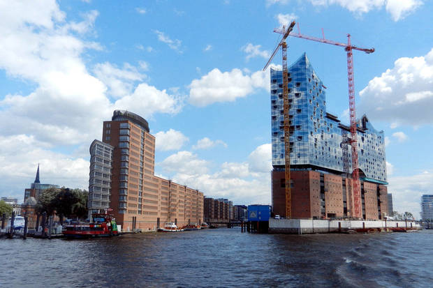 The architecturally striking Elbphilharmonie Concert Hall will highlight the HafenCity development when it�s finished in 2015. Photo by Rick Steves