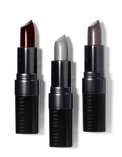 Bobbi Brown's new metallic Chrome lip colors.