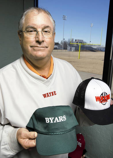David Powell, superintendent of Wayne Public Schools and Byars School, is seen at his office Thursday in Wayne. Photo by Steve Sisney, The Oklahoman <strong>STEVE SISNEY</strong>