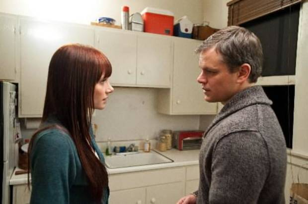 Bryce Dallas Howard, left, and Matt Damon.