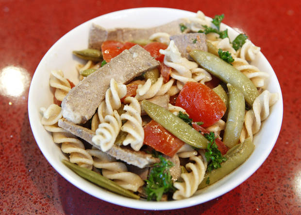 Pasta salad fromt Uptown Grocery Co. <strong>David McDaniel - The Oklahoman</strong>
