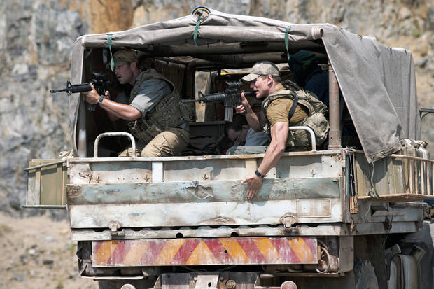 "From left, Sullivan Stapleton and Philip Winchester in ""Strike Back"" - Cinemax Photo"