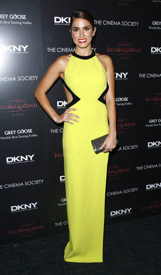 "Actress Nikki Reed attends the Cinema Society premiere of ""The Twilight Saga: Breaking Dawn-Part 1"" on Wednesday, Nov. 16, 2011 in New York. (AP Photo/Peter Kramer) ORG XMIT: NYPK101"