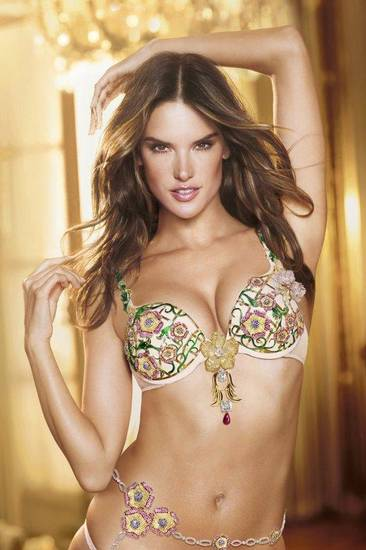 Alessandra Ambrosio models the Fantasy Bra in this year's Victoria's Secret fashion show.