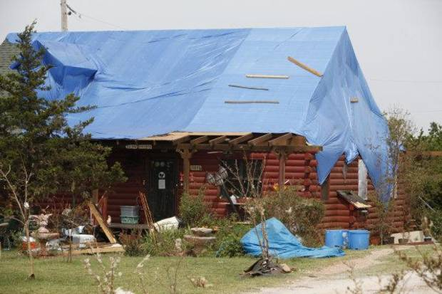Debbie Morris'  Red Rooster Guest Cabooses and Inn sustained major damage from the May 24 tornado in Canadian County <strong>Steve Gooch - THE OKLAHOMAN</strong>