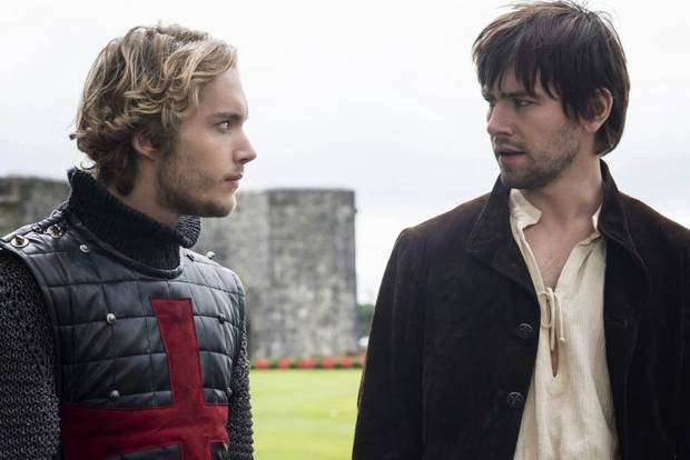 "Reign -- ""Hearts and Minds"" -- Pictured (L-R): Toby Regbo as Prince Francis and Torrance Coombs as Bash -- Photo: Bernard Walsh/The CW -- © 2013 The CW Network, LLC. All rights reserved."