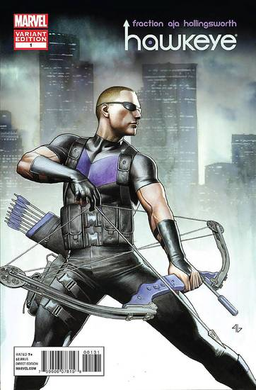 "The variant cover to ""Hawkeye"" No. 1.  Marvel Comics. <strong></strong>"