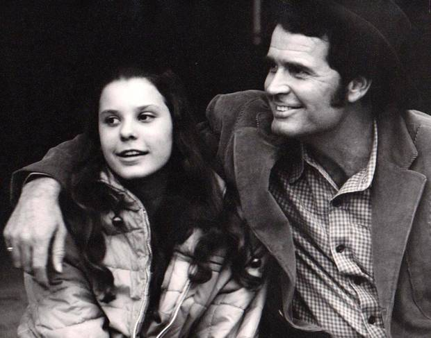 James Garner with daughter Gigi on the set of the 1971-'72 NBC TV series &quot;Nichols.&quot; PHOTO PROVIDED <strong></strong>