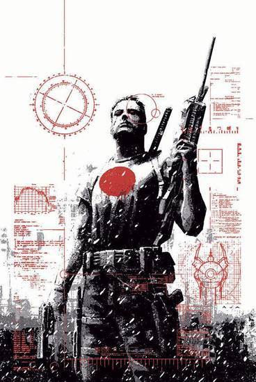 "The David Aja variant for ""Bloodshot"" No. 1.  Valiant Comics. <strong></strong>"