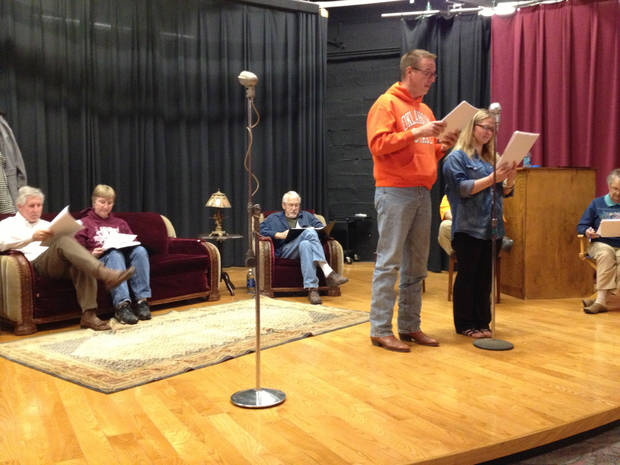 "Performers rehearse for ""It's A Wonderful Life: A Reader's Theatre""  in Perry. (Photo provided)"
