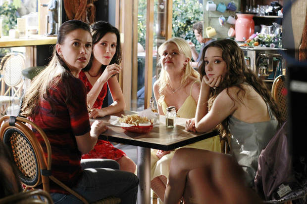 "BUNHEADS - ""Money for Nothing"" - Michelle finds out more about Fanny's financial troubles in ""Money For Nothing,"" an all-new episode of ABC Family's original series ""Bunheads,"" airing Monday, July 16th (9:00 - 10:00 PM ET/PT). (ABC FAMILY/RON TOM) SUTTON FOSTER, JULIA GOLDANI TELLES, BAILEY BUNTAIN, EMMA DUMONT"