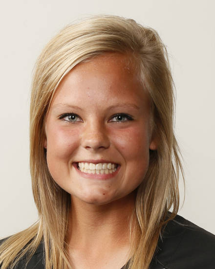 Emma Nelson, Piedmont softball player, poses for a mug shot during The Oklahoman's Fall High School Sports Photo Day in Oklahoma City, Wednesday, Aug. 15, 2012. Photo by Nate Billings, The Oklahoman