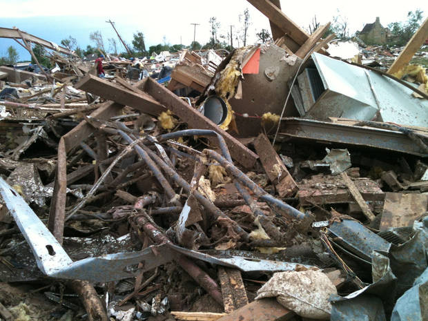 Rubble from A Step Above Day Care Center in south Oklahoma City. <strong>PROVIDED - PROVIDED</strong>