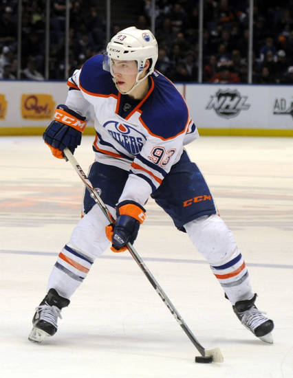Ryan Nugent-Hopkins was in the running to be the NHL&acirc;s top rookie last season. AP photo