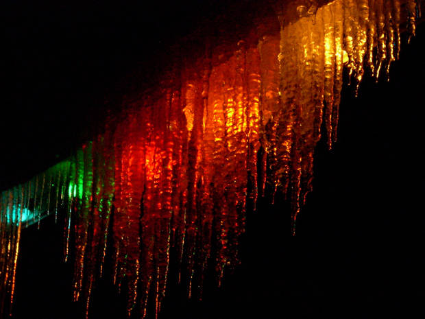 Christmas lights and icicles.<br/><b>Community Photo By:</b> Leonard Sparks<br/><b>Submitted By:</b> Leonard, Midwest City
