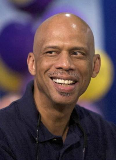 Kareem Abdul-Jabbar during an event Los Angeles. (AP Photo/Damian Dovarganes)