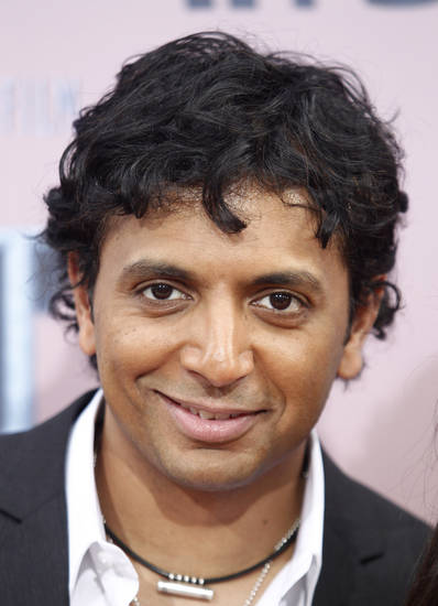 "Director M. Night Shyamalan arrives to the premiere of ""The Last Airbender"" in New York, Wednesday, June 30, 2010. (AP Photo/Peter Kramer) ORG XMIT: NYPK103"