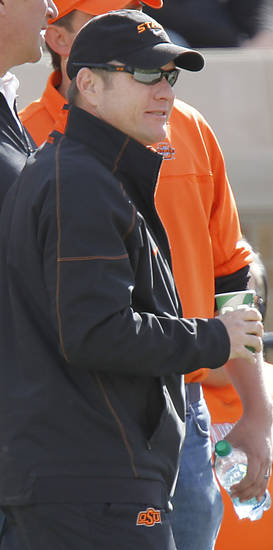 Scott Verplank during the college football game between the Oklahoma State University Cowboys (OSU) and Texas Tech University Red Raiders (TTU) at Jones AT&T Stadium on Satruday, Nov. 12, 2011. in Lubbock, Texas.  Photo by Chris Landsberger, The Oklahoman  ORG XMIT: KOD