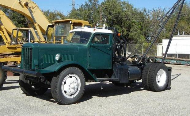 This truck is among numerous vehicles and pieces of equipment to be auctioned by Robert Hawks Auction Co. at 10 a.m. Wednesday at Amis Materials Co., 1647 Exchange Ave. For more information, go to www.hawksauction.com.  PHOTO PROVIDED BY ROBERT HAWKS AUCTION CO.