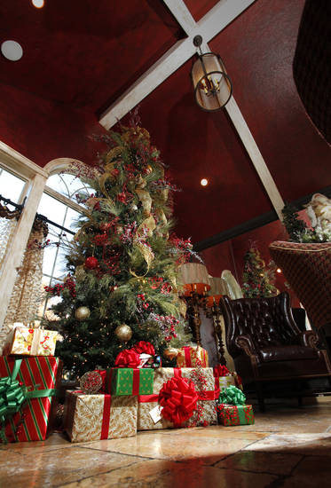 April and Jared Cunningham's home is decorated for the holiday--Christmas Holiday--on Tuesday, Nov. 15, 2011, in Norman, Okla.  The Cunningham home is part of a Christmas Theme home tour.  Photo by Steve Sisney, The Oklahoman