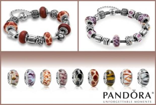 PANDORA launches nine new animal print Murano glass charms.  (PRNewsFoto/PANDORA)