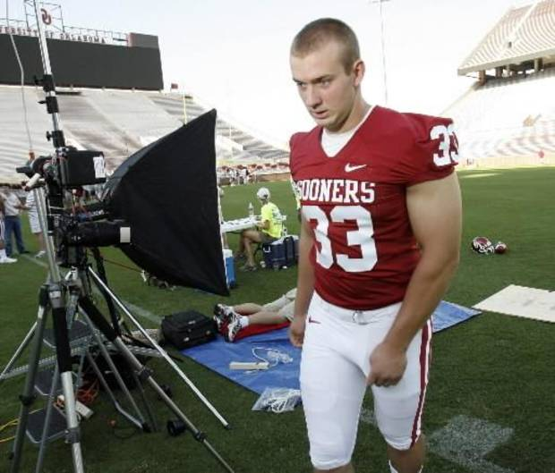 Sooner  Auston  English participates in University of Oklahoma (OU) college football media day in Gaylord Family -- Oklahoma Memorial Stadium in Norman, Okla. on Friday, Aug. 7, 2009. Photo by Steve Sisney