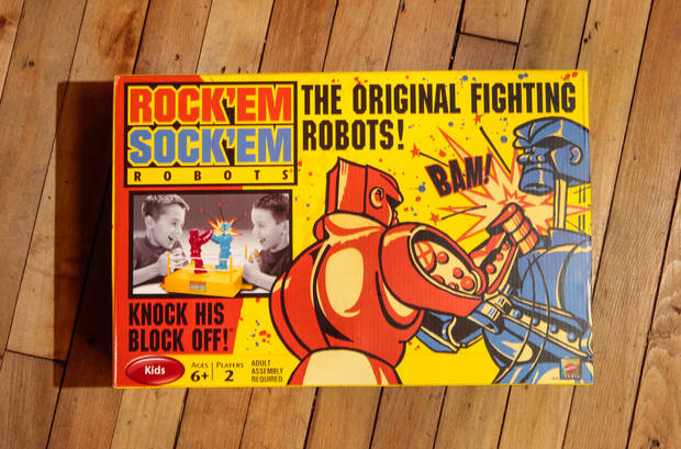 Retro toys have made a comeback among kids in the 2012 holiday shopping season, including Rock 'Em Sock 'Em Robots at Mast General Store in Columbia, South Carolina. (Tim Dominick/The State/MCT)