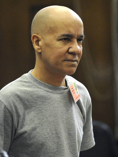 Pedro Hernandez appears in Manhattan criminal court, Wednesday, Nov. 15, 2012, in New York. Harvey Fishbein, the lawyer for Hernandez, charged with 1979 killing of Etan Patz, says his client will plead not guilty because he made a false confession. Hernandez' next court date is set for Dec. 12, when he'll have a chance to enter a plea. He's being held without bail. (AP Photo/Louis Lanzano, Pool)