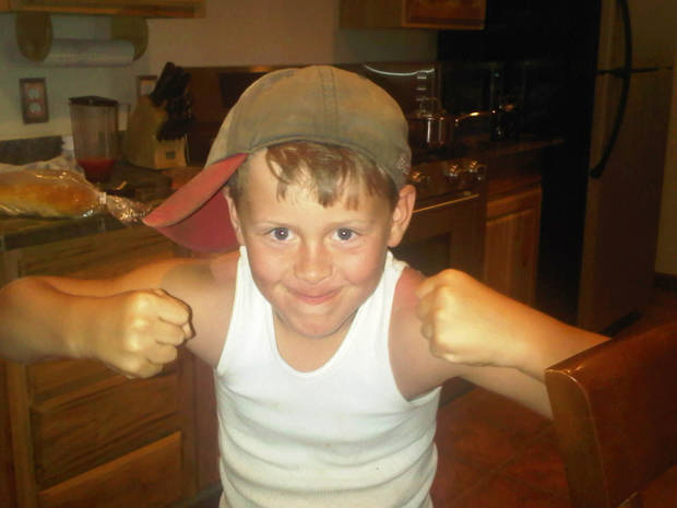 James Wyatt Fisher, 10,  son of Jamie Lynn Russell who died in January at a Pauls Valley hospital. <strong></strong>